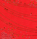 Red dotty fabric background Royalty Free Stock Photos