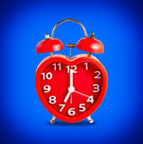 Red double bell alarm clock Royalty Free Stock Image