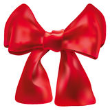 Red double bow over white Stock Images