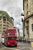 Red double-deck bus in London Stock Photography