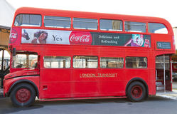 Red Double Decker. A old red double decker bus from The Rahmi M Koc Museum on February 11, 2012 Istanbul, Turkey. The red double decker buses in London are one Stock Photos