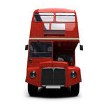 Red double decker autobus over white. Isolated red autobus on white background Royalty Free Stock Photography