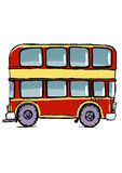 Red double-decker bus Royalty Free Stock Photos