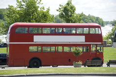 Red double decker bus Royalty Free Stock Images