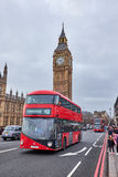 Red double decker bus and big ben Stock Photography