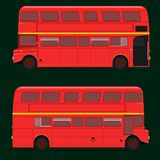 Red double decker bus full roof top. london city. illustration eps10 stock illustration