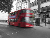 Red double decker bus, London Stock Photo