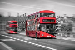 Red double decker in London Stock Photos