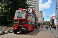 Red Double Decker Sightseeing Bus, New Zealand Stock Images