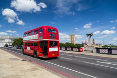 Red Double Decker Tour Bus in London Stock Photos