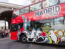 Red double-decker tourist bus, Spain Stock Image