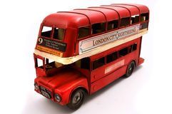 Red Double Decker toy Stock Images