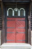 Red Double Door Royalty Free Stock Images