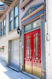 Red Double Doors Stock Images