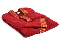 Red double dressing gown. Red double dressing gown on a white background Royalty Free Stock Photos