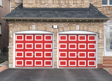 Red Double Garage Royalty Free Stock Photos