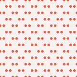 Red double polka dot seamless vector pattern over white vector illustration