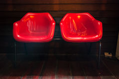 Red double seats chair Royalty Free Stock Image