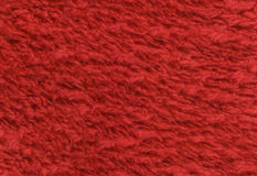 Red double sided terry towelling fabric texture background. High Stock Photography