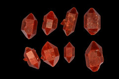 Red double-terminated quartz crystals Royalty Free Stock Photography