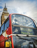 Red doubledecker and Big Ben Royalty Free Stock Photography