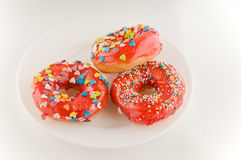 Red doughnuts Stock Photography