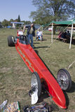 Red Drag Racer Front View Stock Image