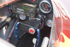 Red Drag Racer Interior Royalty Free Stock Images