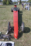 Red Drag Racer Low View Stock Images