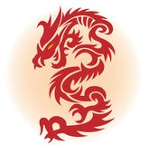 Red dragon. Illustration for you design Stock Photography