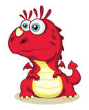 Red dragon. Red cartoon dragon isolated. Vector EPS 8. 5000x6215 vector illustration