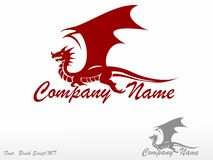 Red Dragon. Logo Royalty Free Stock Images
