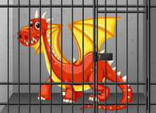 Red dragon in the cage Royalty Free Stock Photography
