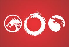 Red Dragon. Can using for logo or icon royalty free illustration