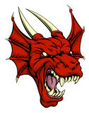 Red dragon character Stock Photo