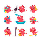 Red Dragon Everyday Business Royalty Free Stock Images