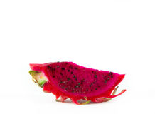 Red dragon fruit. Healthy red dragon fruit against white background Stock Photography