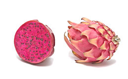 Red dragon fruit and its section Stock Images