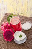 Red Dragon fruit Smoothie Royalty Free Stock Images
