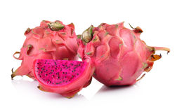 Red dragon fruit on white background Royalty Free Stock Image
