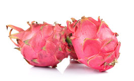 Red dragon fruit on white background Royalty Free Stock Photography