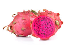 Red dragon fruit on white background Royalty Free Stock Images