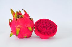 Red dragon fruits. Isolated on white background Royalty Free Stock Image