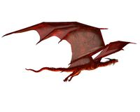 Red Dragon Gliding Stock Photo