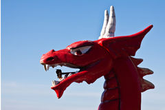 Red dragon head Stock Photo