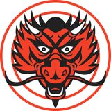 Red Dragon Head Circle Royalty Free Stock Photo