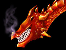Red dragon head Stock Images