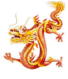Red Dragon Isolated On White Royalty Free Stock Photos