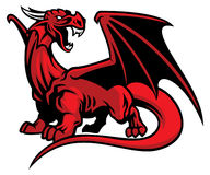 Red dragon mascot. Vector of red dragon mascot Stock Images