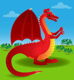 Red dragon out in the open Stock Photos